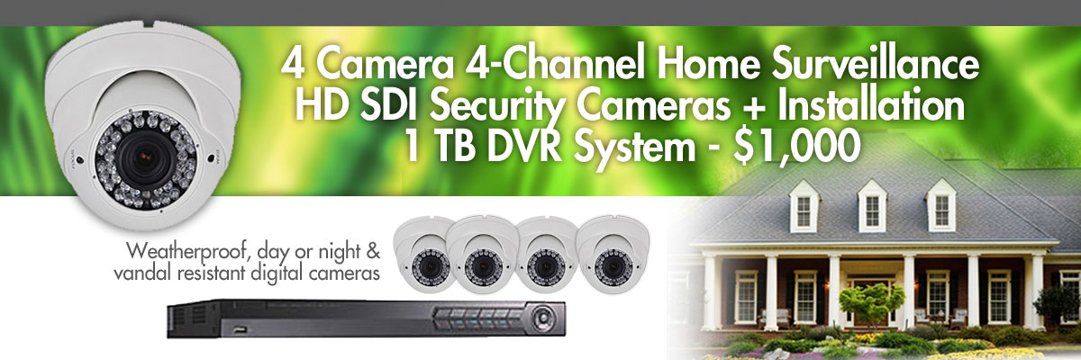 4-camera security surveillance